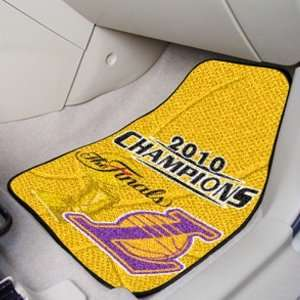 Los Angeles Lakers 2010 NBA Champions 2 Pack Carpeted Car