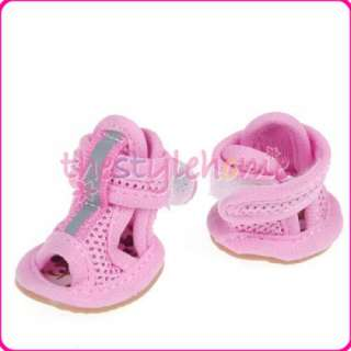 Cute Pink Mesh Dog Sandal Pet Shoes BOOTIES Boots 1#