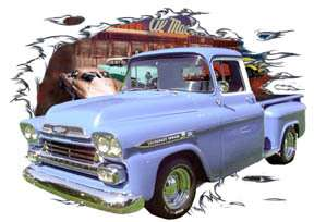 You are bidding on 1 1958 Blue Chevy Pickup Truck Custom Hot Rod