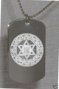 Star of David Photo Dog Tag Necklace FREE ENGRAVING