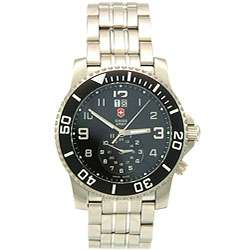 Swiss Army Maverick II Mens Dual Time Black Dial Watch
