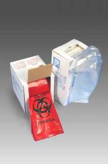 Gallon) LOW DENSITY RED BIOHAZARD TRASH LINERS,200/Case,1.5 Mil