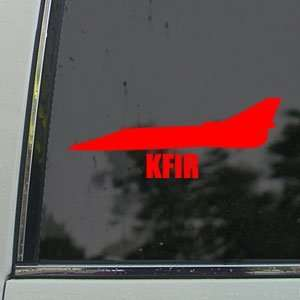KFIR Red Decal Military Soldier Car Truck Window Red