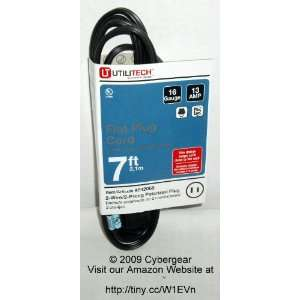 UtiliTech 7 Ft. Power Extension Cord with Flat Plug