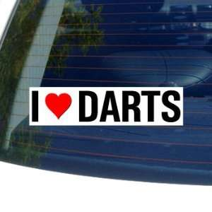 I Love Heart DARTS   Window Bumper Sticker Automotive