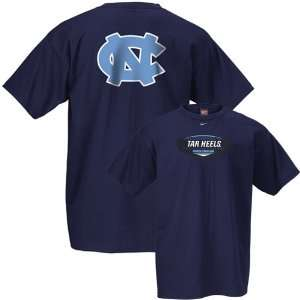 Nike North Carolina Tar Heels (UNC) Navy University T