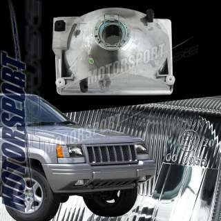 93 98 JEEP GRAND CHEROKEE BLACK HEADLIGHT LAMP PAIR TSI
