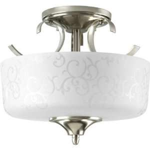 Progress Lighting P3862 09 2 Light Semi Flush Ceiling Fixture Brushed
