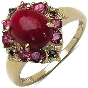 2.35 Carat Ruby Ring with 0.65 ct. t.w. Multi Gems in
