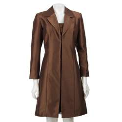 Jessica Howard Womens 3/4 length Satin Jacket/ Dress