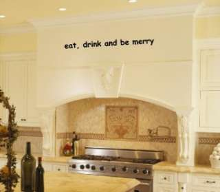 Eat Drink Kitchen Vinyl Wall Art Decal Wall Sticker