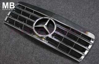 Mercedes Benz W201 190D 190E 84 93 Front Center Grille Chrome Grill