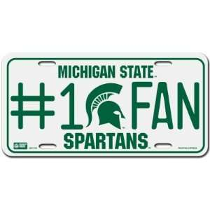 Michigan State Spartans License Plate   #1 Fan Sports