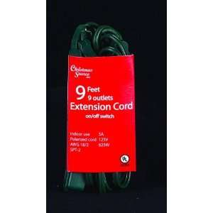 Christmas Source 210055 9 Foot   9 Outlet Extension Cord Tree