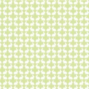 BUNNIES PASTEL GREEN & WHITE Vinyl Decal Sheets 12x12 x3