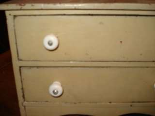 Antique painted 2 drawer sewing box AAFA