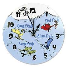 Trend Lab Dr. Seuss One Fish Two Fish Wall Clock   Trend Lab   Babies