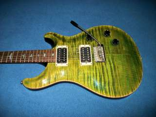 Reed Smith PRS Custom 24, Birds, Faded Emerald Green Flame Maple Top
