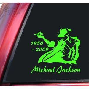 Michael Jackson 1958   2009 Vinyl Decal Sticker   Lime