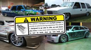 funny hydraulics warning decal that is great in any car or truck