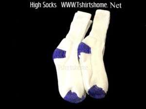 White High Crew Socks Fits Size 10 13   8 Pairs
