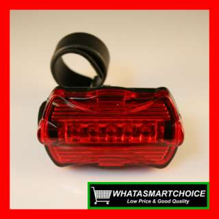 New 6 LED Bike Head Light 5 LED Rear Lamp Bicycle Torch