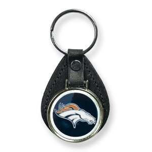 Denver Broncos Leather Key Ring Jewelry