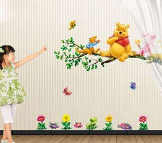 Winnie the Pooh & Friends Peel & Stick Nursery Kids Room Wall Art
