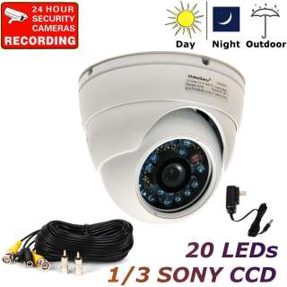 CCD CCTV Infrared Night Vision Outdoor Color Dome Security Camera WA6
