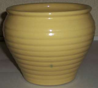 BAUER POTTERY RING WARE YELLOW JARDINIERE