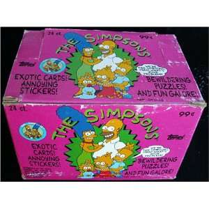 Simpsons Trading Card Wax Box Series 1 #5259 Toys & Games