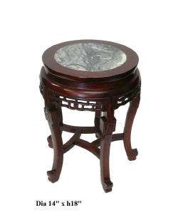 Chinese Red Brown Stone Top Round Stool ss836