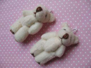 10 Craft Mini Teddy Bear 5cm Applique/doll Ivory