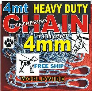 4M DOG TETHERING CHAIN HEAVY DUTY YARD SECURITY SAFE