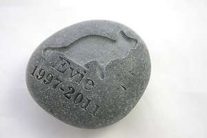 Stone Pet Memorial Custom Engraved Stone Personalized Pet Loss Cat