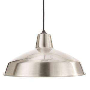 Hampton Bay Brushed Nickel 1 Light Warehouse Pendant AF 1032R at The