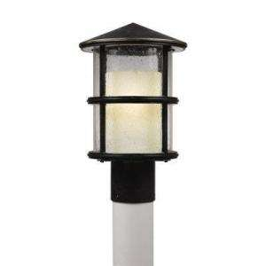 Hampton Bay Chalet Collection Brunette Finish 1 Light 8 In. Post Light