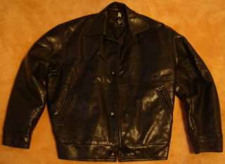 Vintage Gianni VERSACE Leather Bomber Mens JACKET M Mens MEDIUM Old
