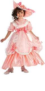 Girls Child Deluxe Southern Girl Georgia Peach Pink Dress Costume W