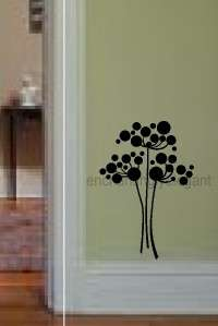 Dandelion Spores Flowers Vinyl Decal Wall Sticker Kitchen Laundry Room
