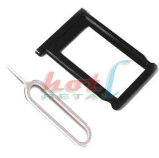 Black SIM Card Slot Tray Holder + Eject Pin Key Tool For iPhone 3G