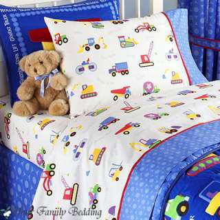 Construction Truck Baby Boy Kid Toddler For Crib Nursery Comforter