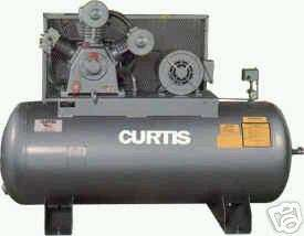 CURTIS 10HT12 TWO STAGE CAST IRON AIR COMPRESSOR