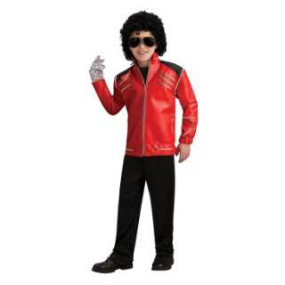 Michael Jackson Deluxe Red Zipper Child Jacket, 70492
