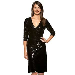 Miss Tina Sequin Wrap Dress