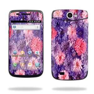 Android Smartphone Cell Phone Sticker Skins Purple Flowers Cell