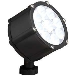 60 Degree Wide Flood Light, Textured Black with Clear Tempered Glass