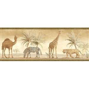 Savannah Animals Wall Border   Kids Wall Paper Roll