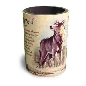 Gray Wolf Pack Bottle Soda Can Wildlife Cabin Lodge Art