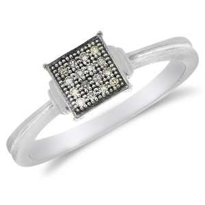 and White Two Tone Gold Diamond Classic Traditional Engagement Ring